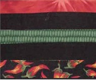 Alternating fabric option for Twisted Bargello workshop