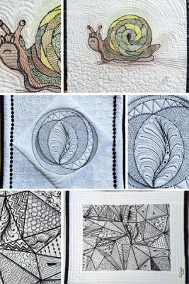 Learn all about Zentangle while drawing and free motion quilting with a Certified Zentangle Teacher