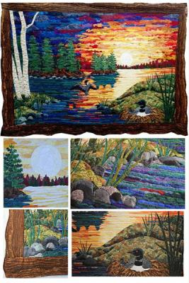 Turn your fabric scraps into amazingly beautiful and breathtaking landscapes!