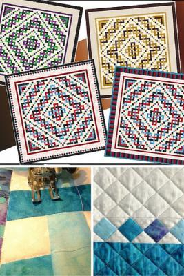 Three Construction options, three border options, three sizes plus multiple quilting ideas. Patchwork piecing.
