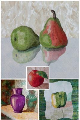 Create your own real Still Life pictures in textile art