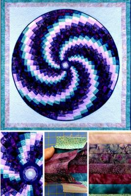 Have you tried a circular Bargello? All cutting is straight edges, believe it or not.