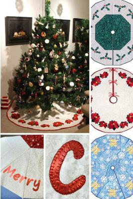 Everyone needs a Christmas Tree skirt - create poinsettias, holly or snowflakes on yours.
