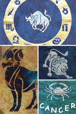 Now you can turn your zodiac sign into a tote or cushion or make an entire quilt of zodiac signs
