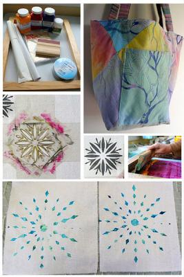 If you thought Screen Printing was complicated, think again. This class is a fun and easy way to create inexpensive original fabrics.