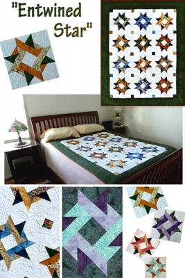 This beautiful starry quilt includes options for star sashing, borders & multiple quilting designs