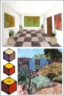 Learn perspective in quilting to create the illusion of depth in realistic to abstract art quilts