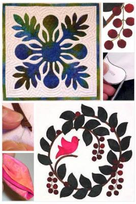 Learn the 5 basic appliqué shapes and Nancy's stress-free method for hand appliqué